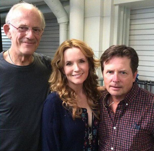 "The ""Back to the Future"" Cast Reunite in London Three Decades Later"
