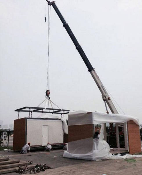 Chinese Company Has Found a Way to Build a House from Scratch in Only 3 Hours