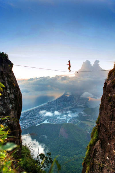 These Adventure Seekers are Really Living on the Edge