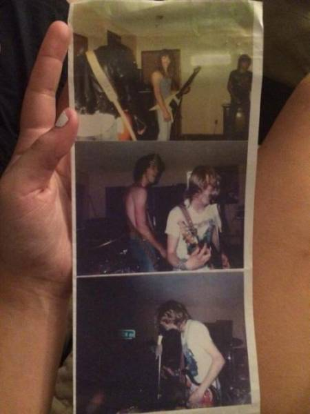 Rare Vintage Photos of Nirvana's First Live Gig