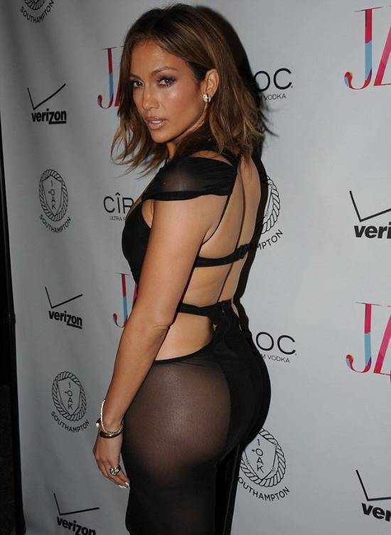 Jennifer Lopez Leaves Little to the Imagination with her See-through Birthday Dress