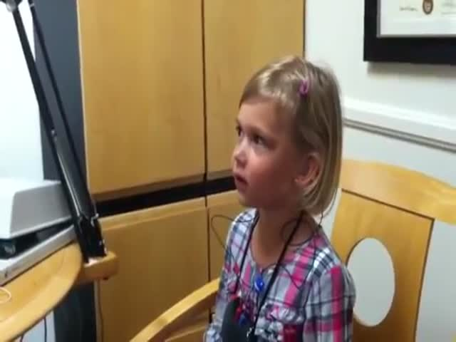 Adorable Girl's Reaction to Hearing Her Own Voice for the First Time