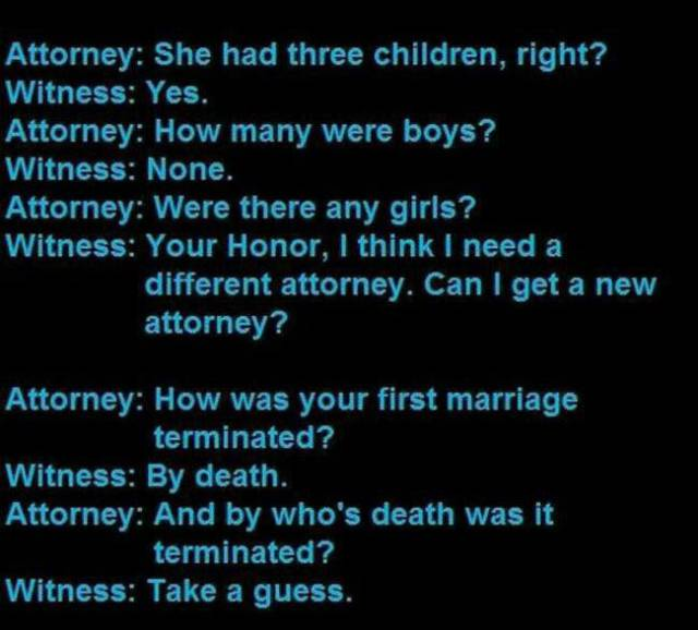Hilarious Statements That Have Actually Been Made in Court