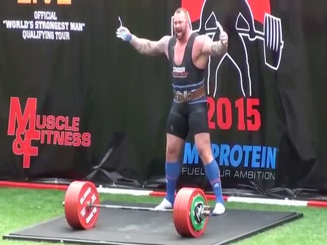 Hafthor Bjornsson Wins Europe's Strongest Man 2015 Once Again and It's Easy to See Why