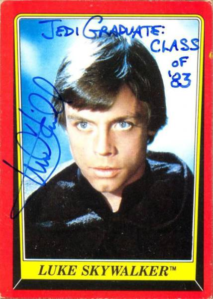 Star Wars Star Pens Funny Autographs for His Fans