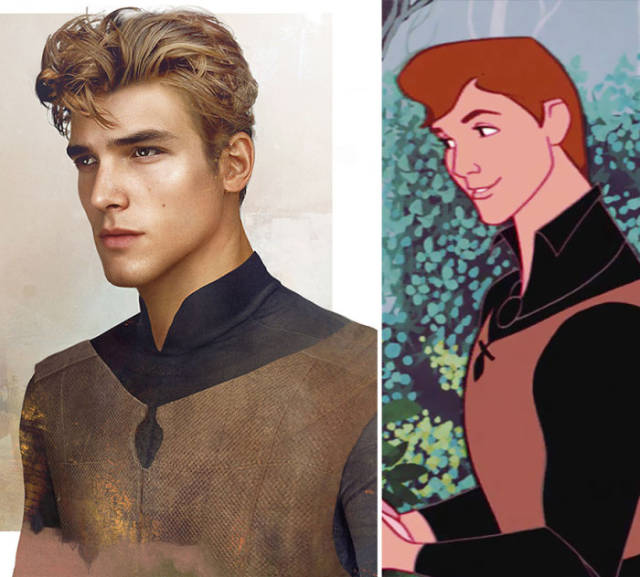 Talented Artist Replicates Cartoon Princes as Real Life Incarnations