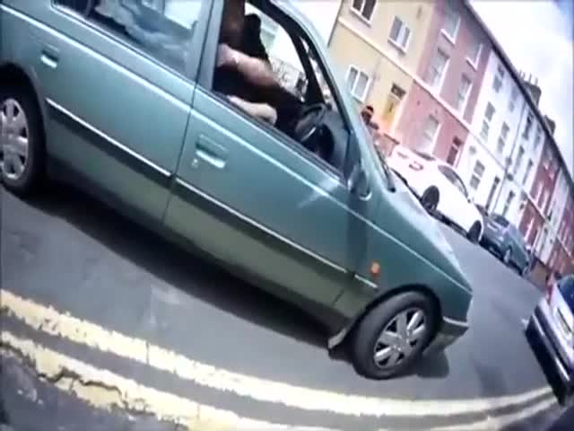 Driver's Road Rage Results in a Total Wipeout
