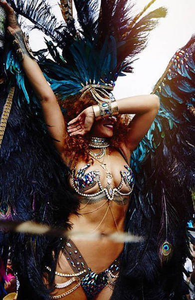 Rihanna Gets Her Twerk on at Her Annual Visit to the Barbardos Carnival