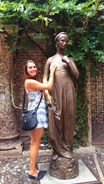 People Getting a Little Silly with Statues