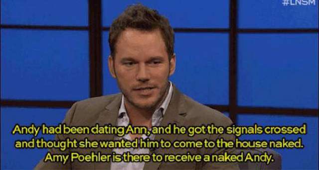 "Chris Pratt Shocks Amy Poehler by Baring All on ""Parks and Recreation"""