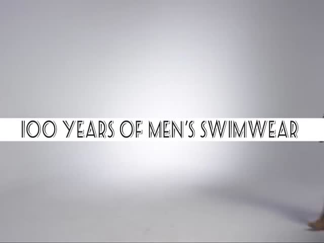 A Three Minute Journey through 100 Years of Men's Swimwear