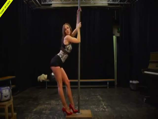 Sexy Pole Dancing Routine Gets Interrupted
