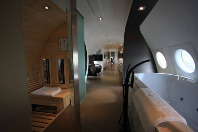 An Exclusive Hotel Suite inside an Unused Airplane