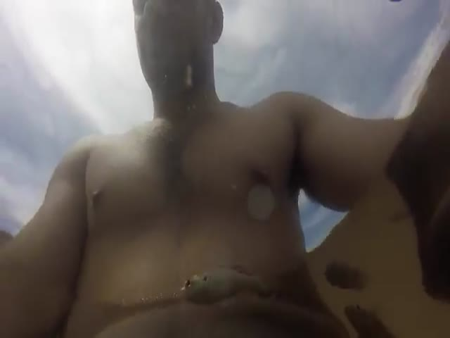 Cheeky Fish Bites Man's Nipple