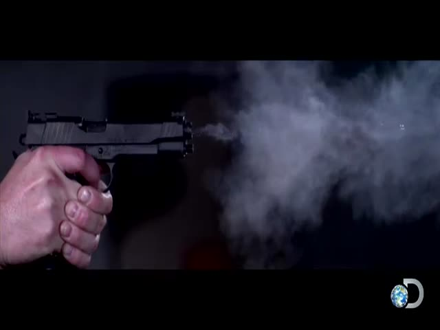 Impressive Slo-mo Footage of a Pistol Shot Being Fired at 73,000 Frames Per Second