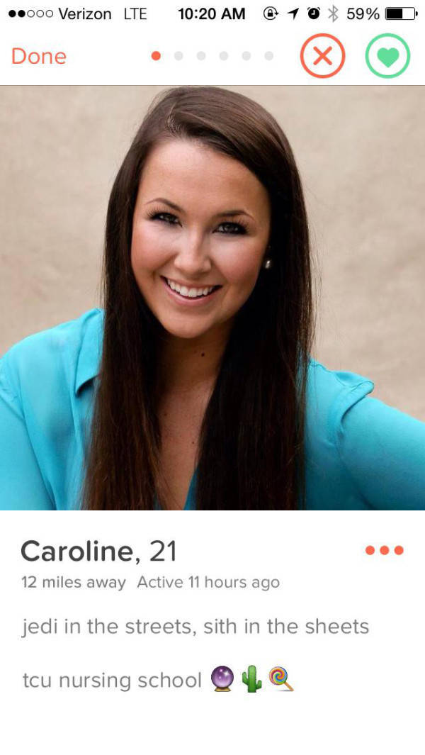 Girls Take Sexual Innuendos to a New Level on Tinder