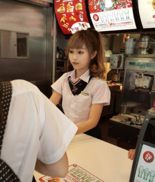 The Prettiest McDonald's Employee in the World
