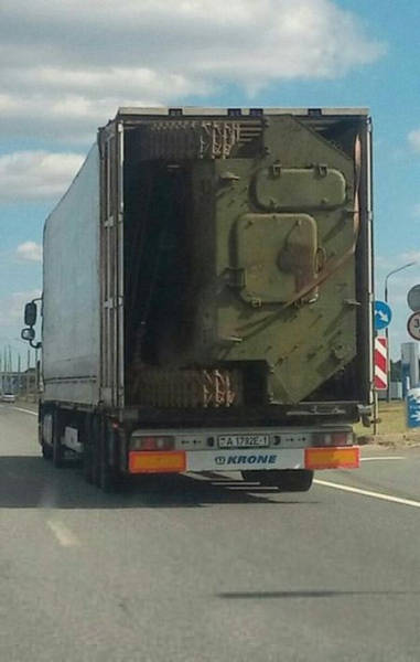 Well This Is One Way to Move a Broken Armoured Personnel Carrier Vehicle