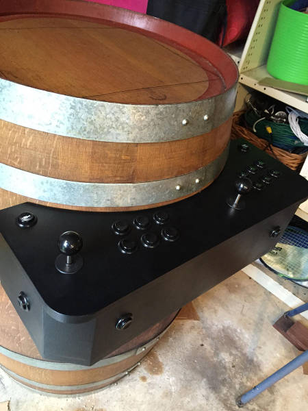 Clever Dude Turns a Wine Barrel into an Awesome Home Arcade Machine
