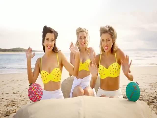 Girl Group Lip Sync a Fun Summertime Medley on the Beach