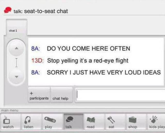 Amusing Conversations Recorded on Virgin Airline's Inflight Messaging System