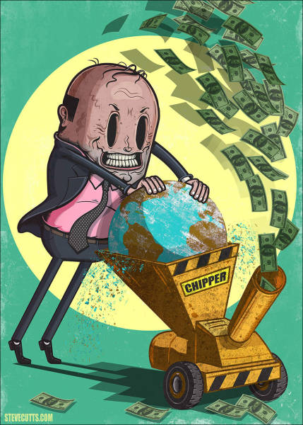 Steve Cutts Comments on the Modern World with These Hard-hitting Artworks