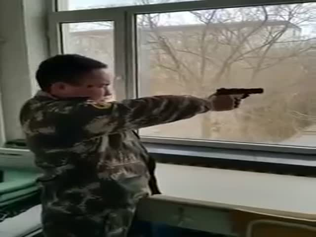 North Koreans Show off Their Shooting Skills