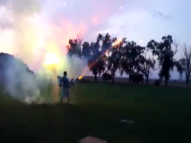 There Is Possibly Nothing Cooler Than a Roman Candle Machine Gun