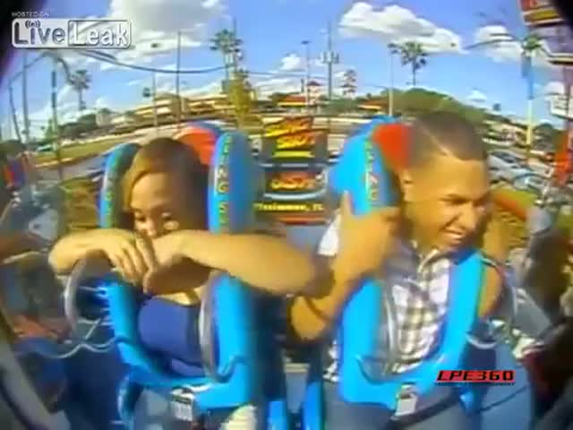 This Dude Has a Frightening Experience on a Slingshot Ride