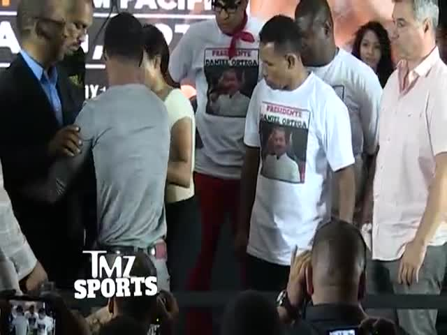 Ricardo Mayorga Blatantly Slaps Shane Mosley's Girlfriend's Ass and the Sh#t Gets Crazy