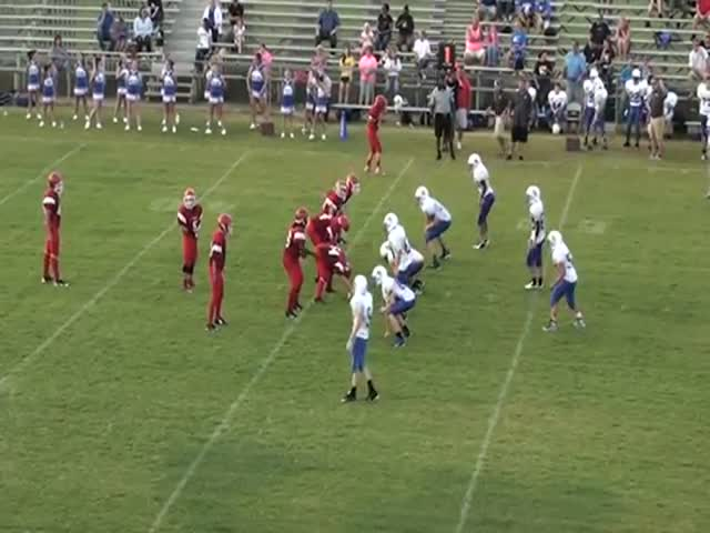 Blountstown Middle School Unbelievable Play for Touchdown