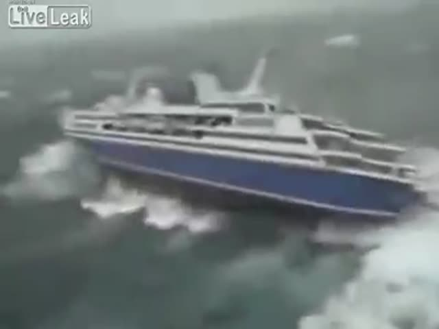 Unlucky Ship Gets Caught in a Raging Storm