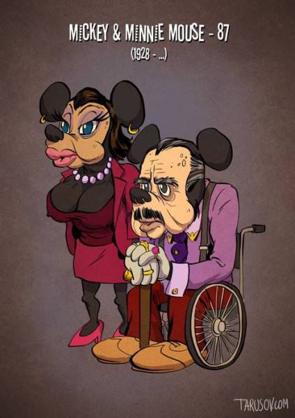 What Cartoon Characters Would Look Like If They Aged the Same as Humans
