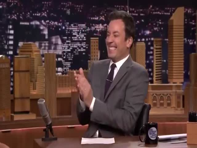 Jimmy Fallon Fake Laughing and Clapping