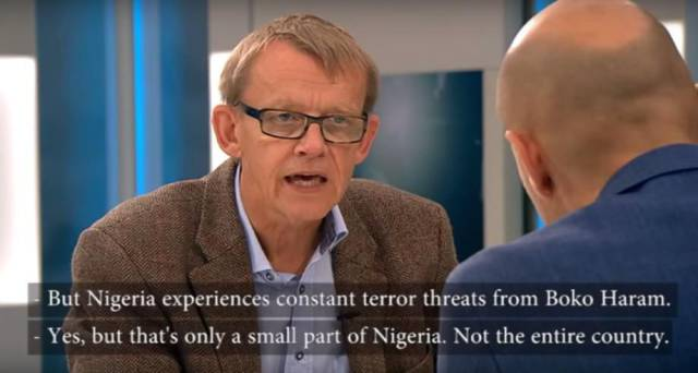 Swedish Professor Gets Totally Worked Up about the Media During a TV Interview