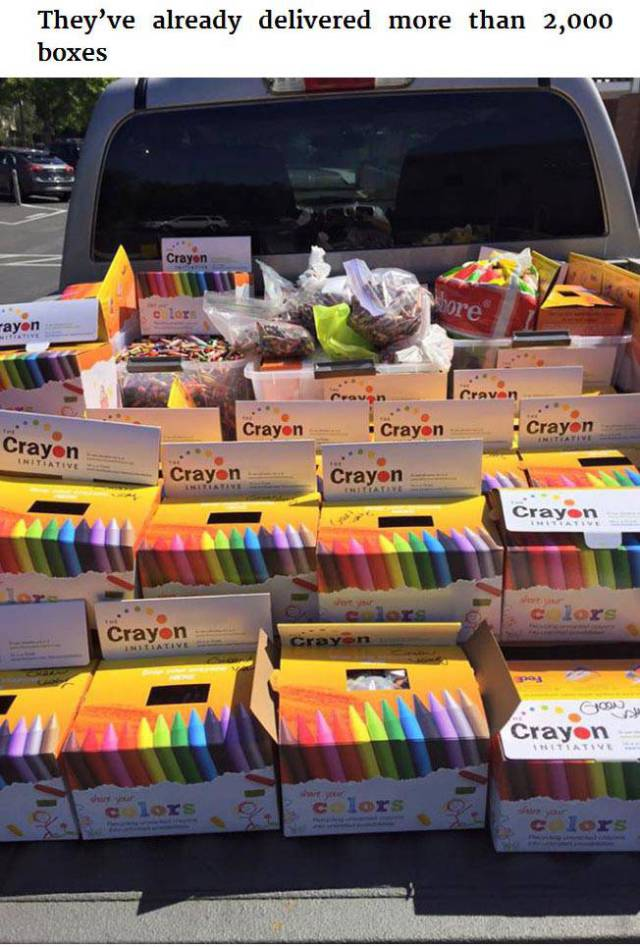 The Creative Dad Who Is Using Crayons as a Way of Changing Lives