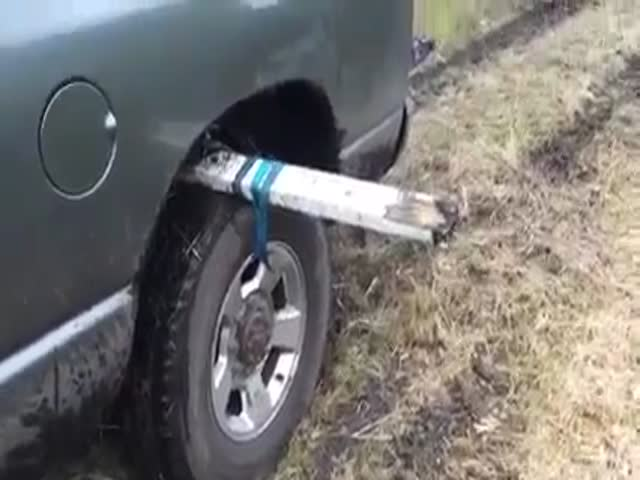 This Wheel and Stick Life Hack Could Get You Out of a Sticky Situation