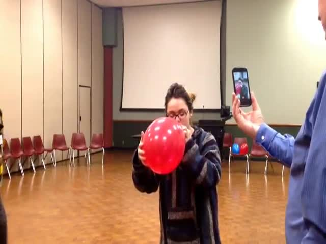 Girl Inhales Helium Gas and Then Belts Out Some Modern Opera Singing