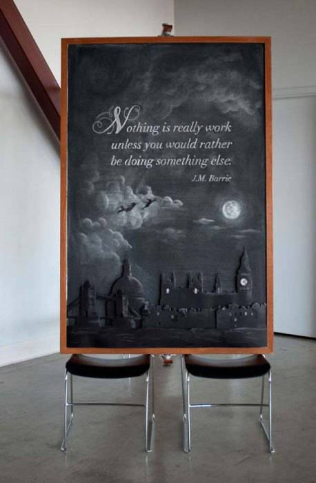 Inspired Chalkboard Art That Started Out as an Elaborate Prank