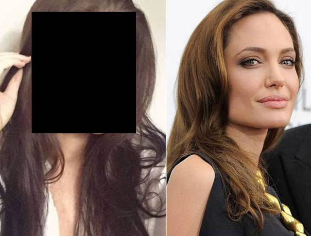 This Gorgeous Scottish Office Worker Is Angelina Jolie's Doppelganger