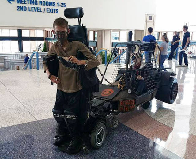 Wheelchair Bound College Student Comes Up with the Most Awesome Cosplay Idea Ever