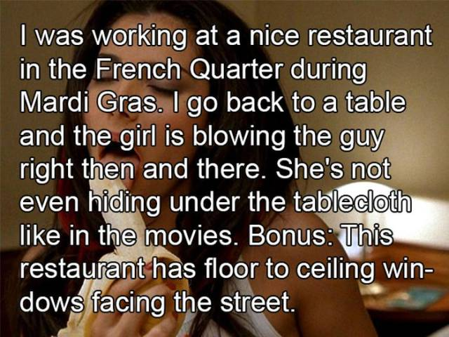 Bartenders and Waiters Reveal the Most Cringeworthy Dates That They've Ever Witnessed