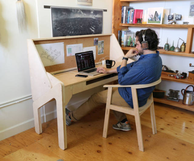 This Convertible Desk Bar Is the Coolest Piece of Furniture Ever