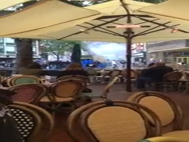 French Thugs Completely Trash a Dutch Restaurant