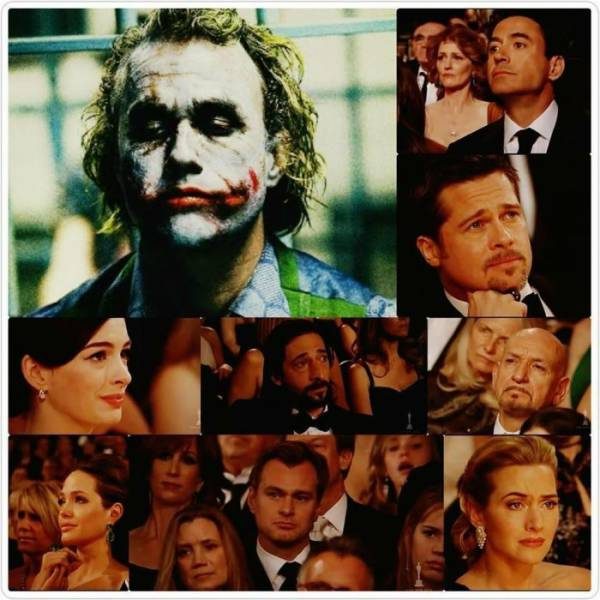 Candid Reactions of Hollywood Stars to Heath Ledger Winning an Oscar after His Death