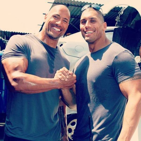 """The Rock's"" Body Double Is Actually His Own Lookalike Cousin"
