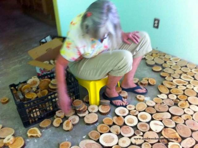 Clever Craftsman Makes His Own One-of-kind Hardwood Floor from Scratch