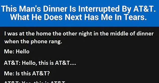 Unlucky Telemarketer Interrupts the Wrong Man During Dinner and Pays the Price for His Mistake