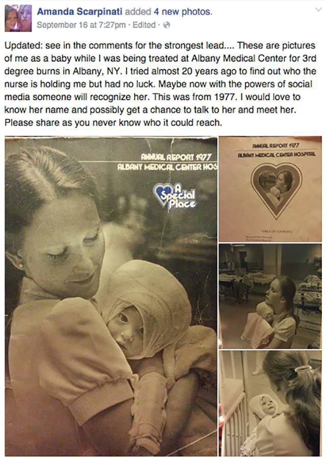 Woman Uses Social Media to Reconnect to the Nurse Who Cared for Her as a Baby