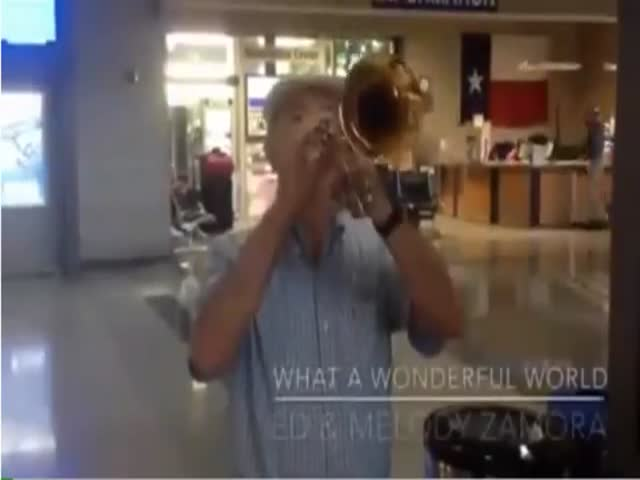 Old Man Welcomes His Wife Home at the Airport in the Sweetest Way
